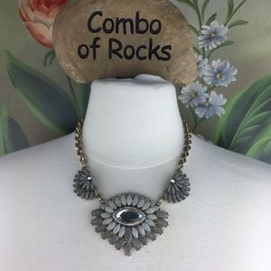 FREE LOFT Faceted Rhinestone Statement Necklace